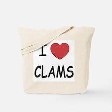I heart clams Tote Bag
