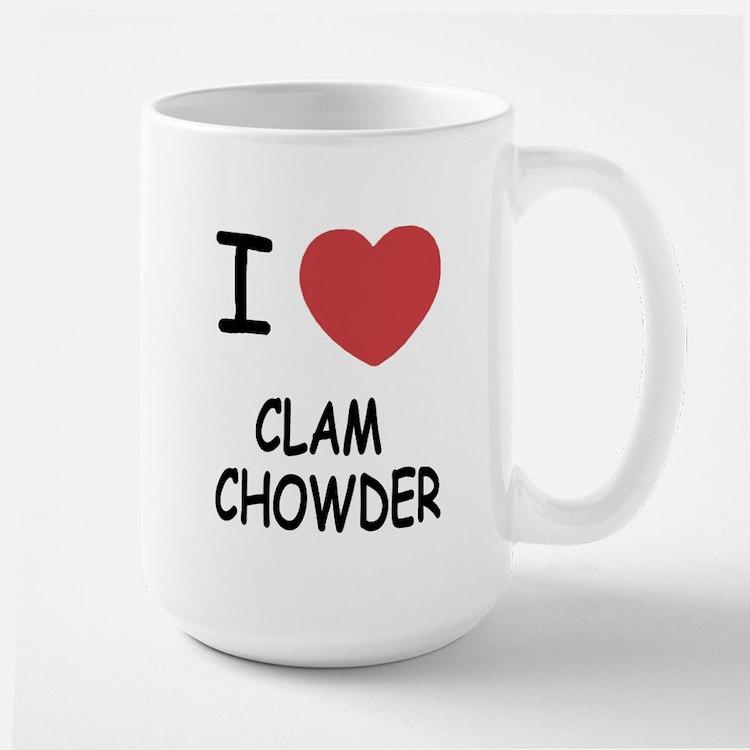 I heart clam chowder Large Mug