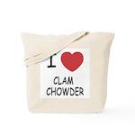 I heart clam chowder Tote Bag