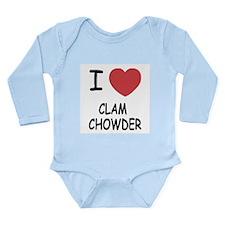 I heart clam chowder Long Sleeve Infant Bodysuit