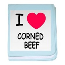 I heart corned beef baby blanket