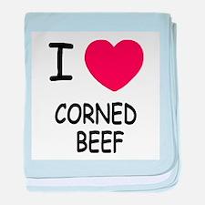 I heart corned beef baby blanket