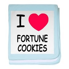I heart fortune cookies baby blanket