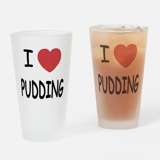 I heart pudding Drinking Glass