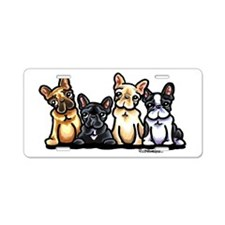 Four Frenchies Aluminum License Plate