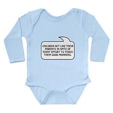 Children Bubble 1 Long Sleeve Infant Bodysuit