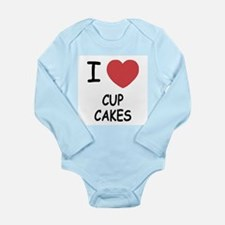 I heart cupcakes Long Sleeve Infant Bodysuit