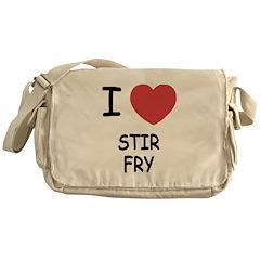 I heart stir fry Messenger Bag