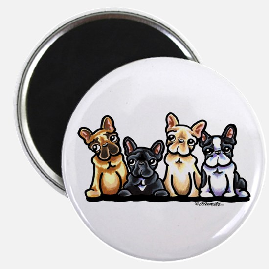 Four Frenchies Magnet