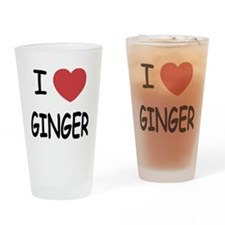 I heart ginger Drinking Glass
