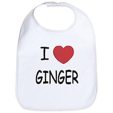 I heart ginger Bib