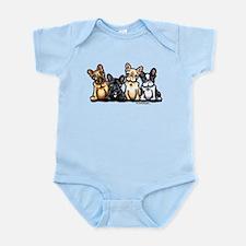 Four Frenchies Infant Bodysuit