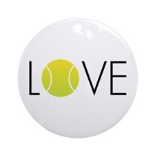 Tennis LOVE ALL Ornament (Round)