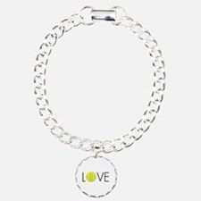Tennis LOVE ALL Charm Bracelet, One Charm