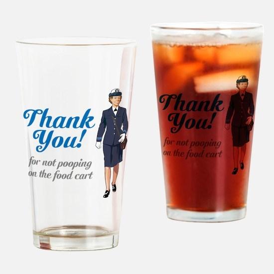 Poo'd Cart Drinking Glass