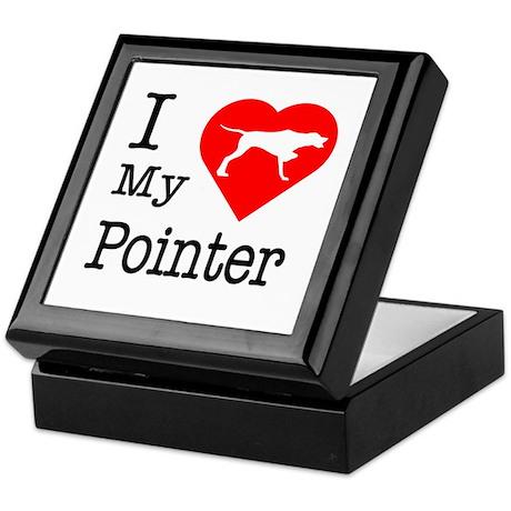 I Love My Pointer Keepsake Box