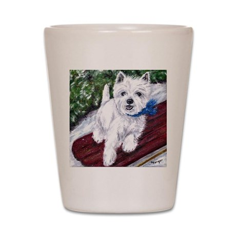 Westie Wonderland Shot Glass