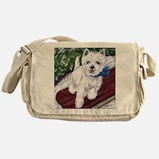 Westie Wonderland Messenger Bag
