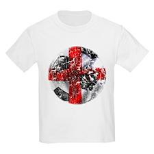 England Fulbol Distressed Design T-Shirt