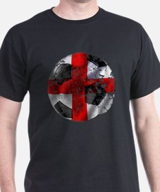 England Fulbol Distressed Design T-Shirt