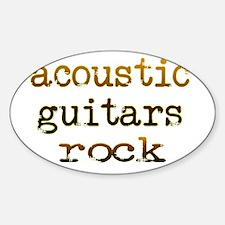 Acoustic Guitars Rock Decal