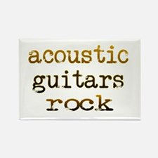 Acoustic Guitars Rock Rectangle Magnet