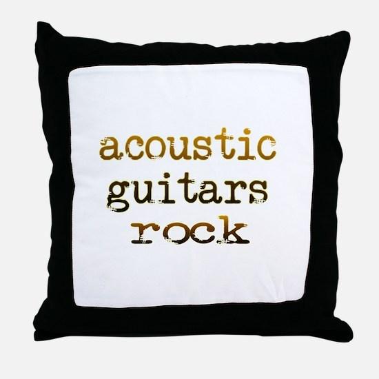 Acoustic Guitars Rock Throw Pillow
