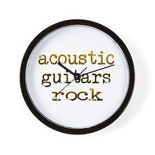 Acoustic Guitars Rock Wall Clock