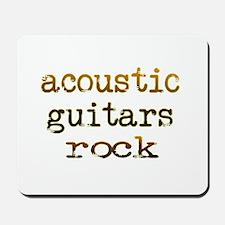 Acoustic Guitars Rock Mousepad