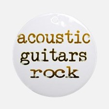 Acoustic Guitars Rock Ornament (Round)