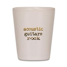 Acoustic Guitars Rock Shot Glass