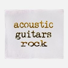 Acoustic Guitars Rock Throw Blanket