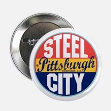 "Pittsburgh Vintage Label 2.25"" Button"