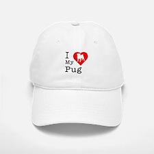 I Love My Pug Baseball Baseball Cap