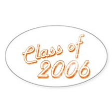 Faded Class of 2006 Oval Decal