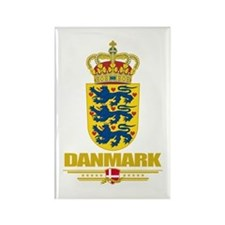 Denmark COA Rectangle Magnet