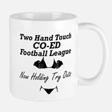 Two Hand Touch Co-Ed Football Mug