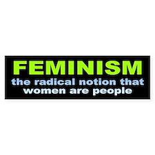 feminism... Bumper Bumper Sticker