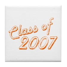Faded Class of 2007 Tile Coaster