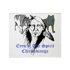 Chickamauga Native American Throw Blanket