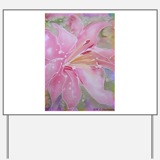 Pink Lily, Beautiful, art, Yard Sign
