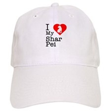 I Love My Shar Pei Baseball Cap
