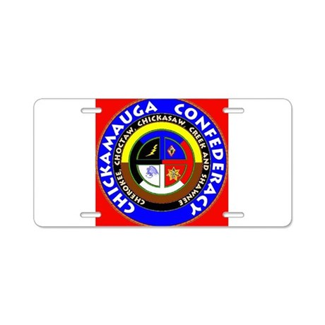 Chickamauga Confederacy Aluminum License Plate