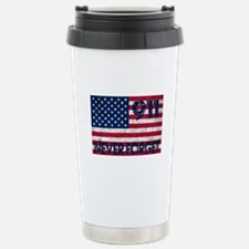 911 Grunge Flag Stainless Steel Travel Mug