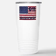 911 Grunge Flag Travel Mug