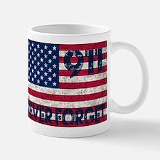 911 Grunge Flag Mug