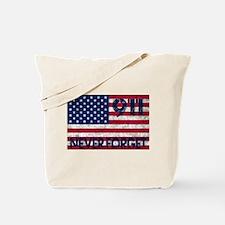 911 Grunge Flag Tote Bag