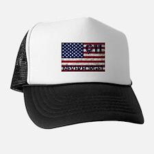 911 Grunge Flag Trucker Hat