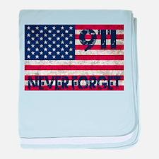 911 Grunge Flag baby blanket