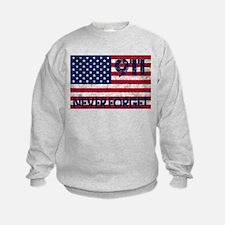 911 Grunge Flag Sweatshirt